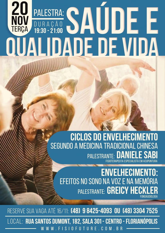 PALESTRA sobre Saúde e Qualidade de Vida em Florianópolis